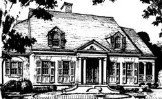 A classic revival house plan 2458 sq ft main floor, 618 upstairs with good size bedrooms and a jack n Jill bath. Very similar to New London plan except solarium. ***