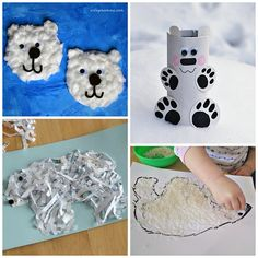 Winter Polar Bear Crafts for Kids to Make - Crafty Morning