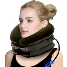 P PURNEAT Health Cervical Neck Traction Device - Instant Pain Relief for Chronic Neck and Shoulder Pain - Effective Alternate Pain Relieving Remedy,Brown. Shoulder Pain Relief, Neck Pain Relief, Neck And Shoulder Pain, Decompression Therapy, Spine Alignment, Neck Support Pillow, Neck Strain, Neck Problems, Neck Injury