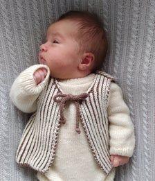 Infant Wool yarn coat Cardigan 2224inch Chest PDF DK knitting pattern Baby