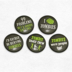 Zombie dance crew buttons!