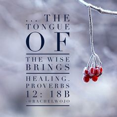 Are my words hurting or healing? Proverbs 12:18