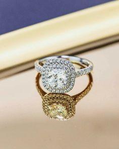 Cushion Cut Halo Diamond Engagement Ring - Praise