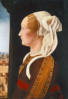 Portrait of Ginevra Sforza Bentivoglio,c.1480 by Ercole de Roberti. Ginevra Sforza was born in Ancona in 1440, the illegitimate daughter of Alessandro Sforza, Lord of Pesaro. Ginevra befriended Gentile Budrioli, wife of the notary Alessandro Cimieri and student at the University of Bologna, who was accused of witchcraft and burned at the stake in 1498