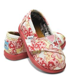 Take a look at this Pink Butterfly Canvas Classics - Tiny by TOMS on #zulily today!