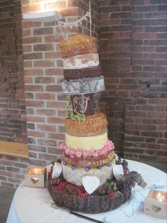 Oh God this is AMAZING!!! Pork Pie & Cheese Wedding 'Cake'!!!