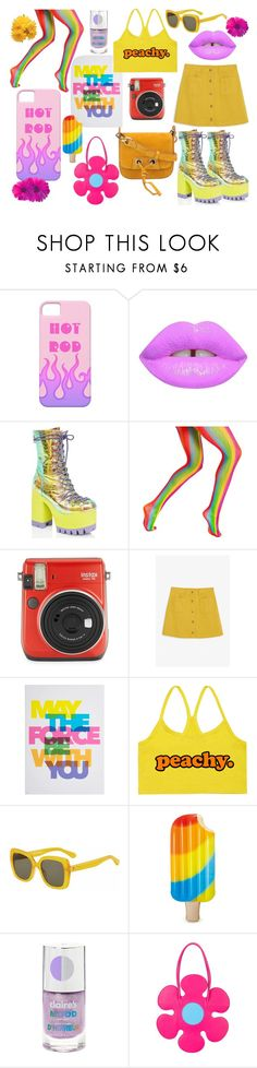 """""""Woops there goes the 70s"""" by moosedisco ❤ liked on Polyvore featuring Lime Crime, Current Mood, Fuji, Monki, Graham & Brown, Kate Spade, Moschino and Vanessa Bruno"""