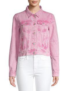 Free People Rumours Tie-Dye Denim Jacket   TheBay