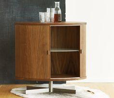 Modern tambour door drinks cabinet from Denmark