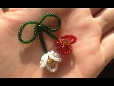 Beaded Flowers, Bead Crafts, Seed Beads, Projects To Try, Jewelry Making, Tutorial, Crochet, Earrings, How To Make