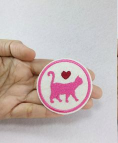 Cat Love  Iron on patch by SundayNeek on Etsy