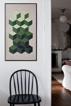 DIY geometrical art with 3D effect
