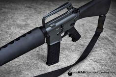 Original @coltfirearms AR15 refinished in MAD Black & Sig Dark Grey Cerakote.  #cerakoteMADness