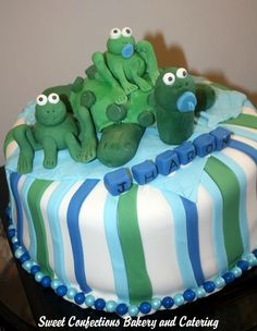 Turtle and Frog Baby cake
