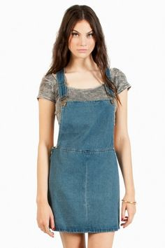 Rooney Denim Overall Dress