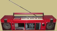 """My Radio believe me i like it LOUD"" -----> Sanyo KBX-7 Portable Stereo System with Synthesizer Keyboard."