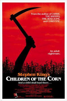 Stephen King'S Children Of The Corn Movie Linda Hamilton Horror – Poster - Canvas Print - Wooden Hanging Scroll Frame