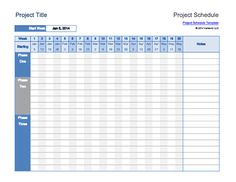 Download This Project Schedule Template To Create A Simple