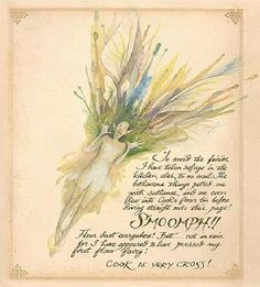 """Lady Cottingham's Pressed Fairies"" by Brian Froud.  I always thought these would make awesome tattoos ... ""I didn't know, I thought it was a mosquito!"""