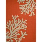 Reef Apricot Orange 7 ft. 6 in. x 9 ft. 6 in. Conversational Area Rug, Apricot Orange/Tuffet