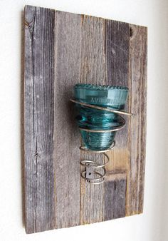 Barnwood Candle Holder Candle Sconce  by FarmhouseHomeDecor