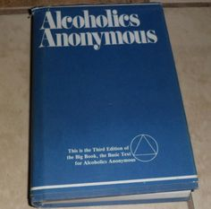 Vintage Alcoholics Anonymous Big Book HC third edition 34th printing 1989 HB…