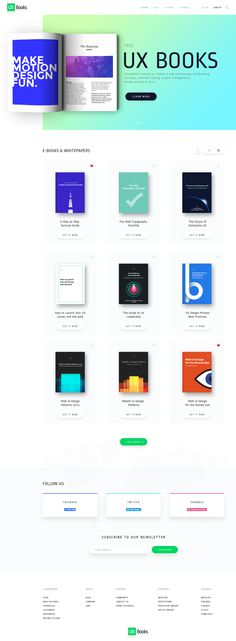 UX pin E-Books Store page redesign