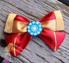 Hey, I found this really awesome Etsy listing at https://www.etsy.com/listing/202706764/iron-man-hair-bow-avengers-hair-bow