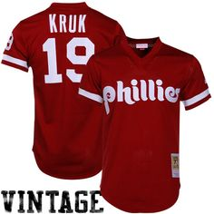 d31adb711 Mitchell   Ness John Kruk Philadelphia Phillies Authentic Throwback Jersey -Maroon