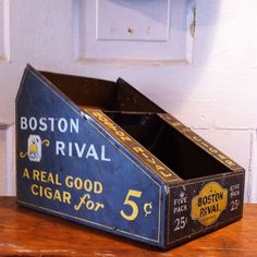 Rare Boston Rival cigar tin litho. eBay or contact me directly. #hindstudio #sprinfieldil #ebay #antique #advertising #tin #vintage #vintagedecor #store #cigar #tobacco #generalstore #pick #find