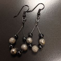 Earrings designed for my good friend Dr. Courtney!