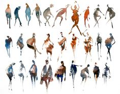 watercolor abstract figures - Anders Andersson