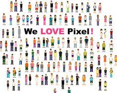 We love pixel! Wall Mural   Eazywallz