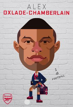 Alex Oxlade-Chamberlain was featured in our Arsenal v Leicester City Matchday Programme. Illustration by © Daniel Nyari / iamdany.com