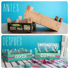 DIY Antes y Después '13: Cajas de frutas para guardar la vajilla : x4duros.com