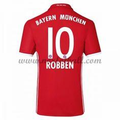 Billige Fotballdrakter Bayern Munich 2016-17 Robben 10 Hjemme Draktsett Kortermet