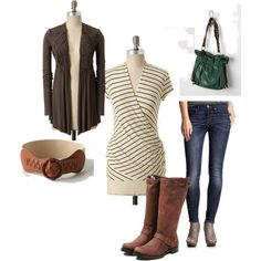 wish i could afford this exact outfit, love brown & teal!