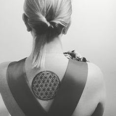 Flower of life tattoo and 90's satin dress