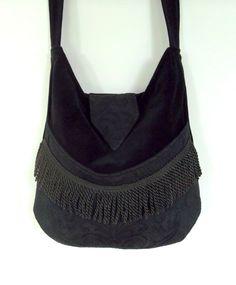Black Velvet Gypsy Bag Messenger Bag Bohemian  large bag renaissance bag messenger bag medieval bag by piperscrossing on Etsy https://www.etsy.com/listing/152668117/black-velvet-gypsy-bag-messenger-bag