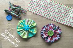 If you are not that confident sewing, or don't have that much time, but want a cute and easy sewing project… or if you are beginner sewer or sewing with kids and need something and cute, check out these super duper easy Fabric Flowers… they are indeed easy, can be worn as hair pieces or …