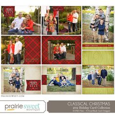Classical Christmas – Holiday Card Collection - Photoshop Templates for Photographers - Prairie Sweet Boutique