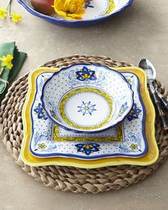 "provencal style kitchen rugs | Provence"" & ""Amalfi"" Melamine Dinnerware traditional dinnerware"