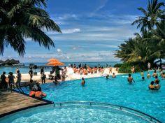 Pool party at Kani, Maldives