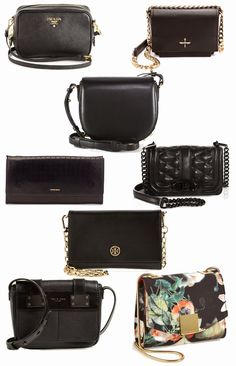 Black Leather Small Crossbody Bag Roundup via @lucismorsels