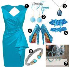 Aqua wedding inspirations | Contemporary Bride