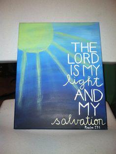 Canvas Painting  Psalm 271  Sun by JordansCanvas on Etsy, $15.00