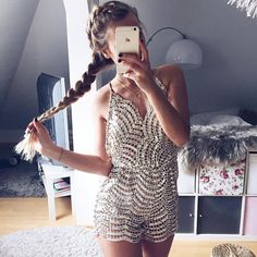dddf543ab3 2017 Women Summer Bodysuit Rompers Womens Jumpsuit Deep V Neck Sequin  Backless  7 Shorts Sexy Bodycon Jumpsuits Clubwear. Sequin PlaysuitSparkly  ...