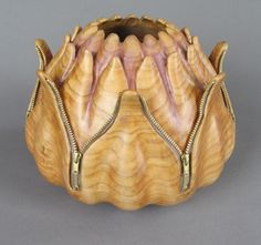 Zippered Bowl by Paul Stafford  of Littleton, Colo. 2013 NICHE Awards Finalist. Category: Wood, Turned