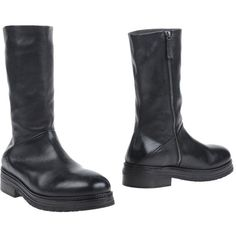 Marsèll Boots ($1,452) ❤ liked on Polyvore featuring men's fashion, men's shoes, men's boots, black, mens leather shoes, mens leather zipper boots, mens black shoes, mens round toe cowboy boots and mens black leather boots