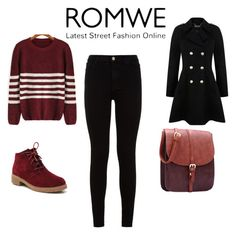 """Romwe-Striped Sweater"" by almaaa789 ❤ liked on Polyvore featuring 7 For All Mankind and Miss Selfridge"